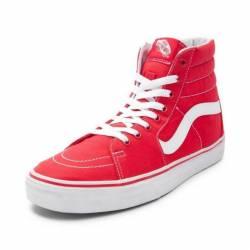 New vans sk8 hi skate shoe red...