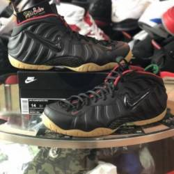 Nike foamposite pro black gym ...
