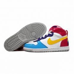 Nike big nike high le white/ye...