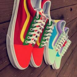 Custom colorblock old skool vans