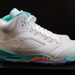 Gs nike air jordan 5 light aqu...