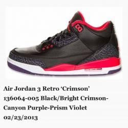 Air jordan 3 crimson