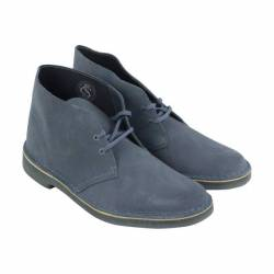 Clarks desert boot mens blue s...