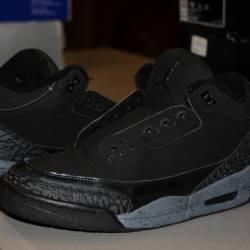 Nike air jordan iii black cut ...