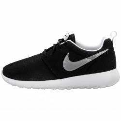 Nike roshe run black/white gs ...