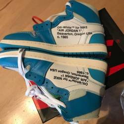 Off white x air jordan 1 unc s...