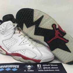 Air jordan 6 white varsity red...