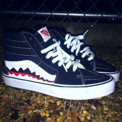 Vans custom old skool skate hi...