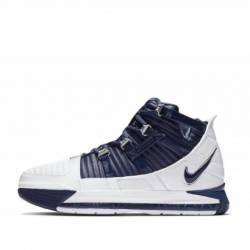 Nike zoom lebron 3 white navy ...