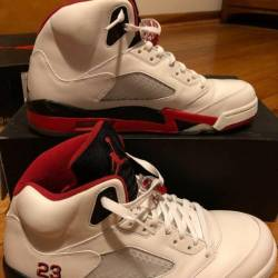 Air jordan fire red black tongue