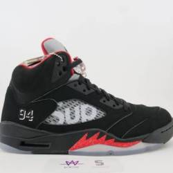 "Air jordan 5 retro supreme ""bl..."