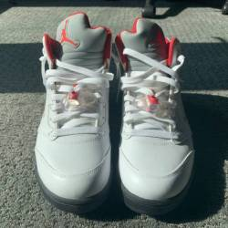 Air jordan 5 fire red silver t...