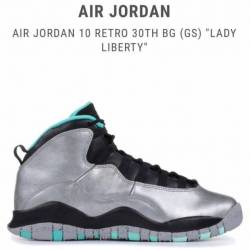 Air jordan retro 10 gs 'lady...