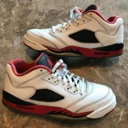 Jordan 5 fire red low