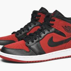 Air jordan 1 mid gym red black