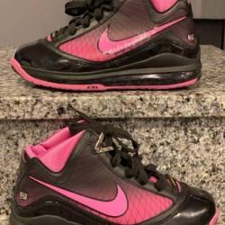 Nike zoom lebron vii gs blk/pi...