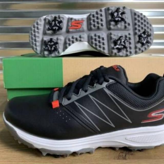 Skechers Go Golf Blaster Boys Golf Shoes Black Red Youth Sz 99981 New Kixify Marketplace