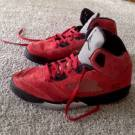 Jordan 5 Raging Bull Red Suede