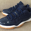 Nike Air Jordan XI Retro 11 Low OG Midnight Navy White Gum B