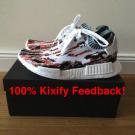 Adidas SNS Sneakersnstuff NMD PK Glitch DataMosh Orange Gucc