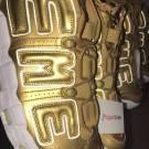 Supreme x Nike Air More Uptempo Metallic Gold