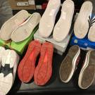 6 shoe lot CURRY, AIR FORCE, ADIDAS