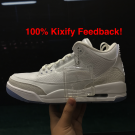 Air Jordan 3 Pure white 2018 Triple white