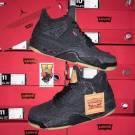 2018 Nike Air Jordan 4 IV NRG Black Denim Levis Pack lot AO2571-001 Sz:8-14